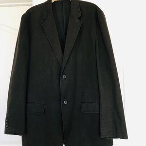 Alfini Mens blazer sport jacket brown cotton sz xl
